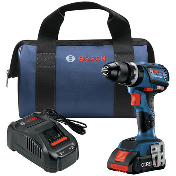 Bosch GSB18V-535CB15 18V Lithium-Ion EC Brushless Connected-Ready Compact Tough 1/2 in. Cordless Hammer Drill Driver Kit (4 Ah)