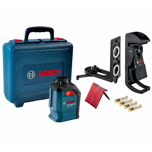 Factory Reconditioned Bosch GLL 2-20-RT Self-Leveling 360 Degree Line and Cross Laser image number 0