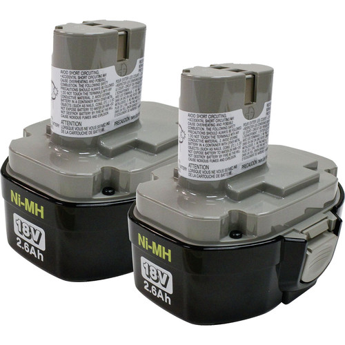 Makita 194158-6 18V 2.6 Ah Ni-MH Battery (2 Pc)