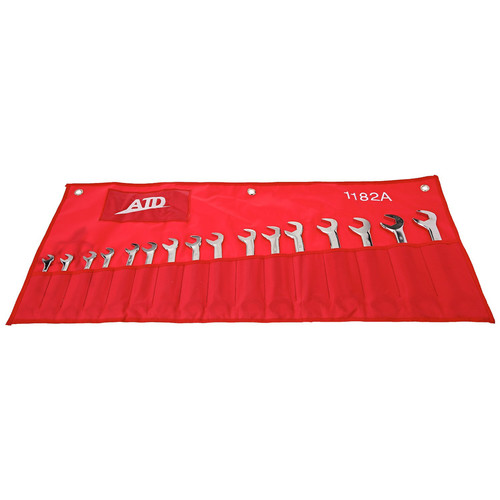 ATD 1182 16-Piece Metric Combination Angled Wrench Set