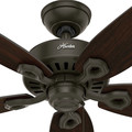 Hunter 53292 52 in. Builder Elite Damp New Bronze Ceiling Fan image number 4
