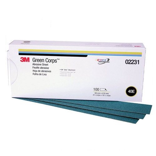 3M 2231 Green Corps Stikit Production Sheet 2-3/4 in. x 16-1/2 in. 40E (100-Pack) image number 0