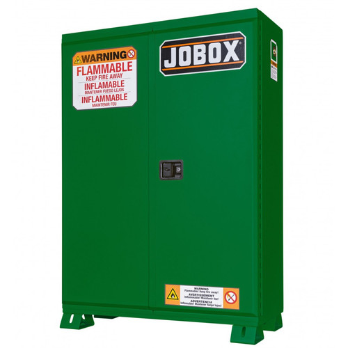 JOBOX 1-858670 60 Gallon Heavy-Duty Safety Cabinet (Green)