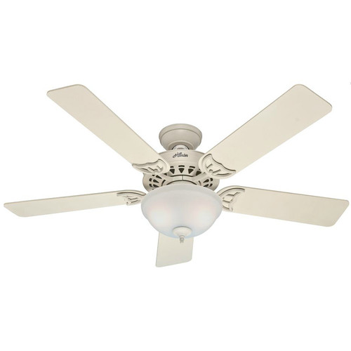 Hunter 53173 52 in. Sonora French Vanilla Ceiling Fan with Light