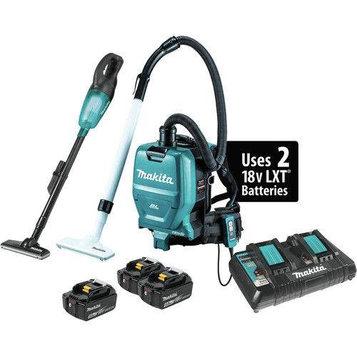 Makita XT278PTX1 18V LXT Lithium-Ion 2-Pc. Vacuum Combo Kit (5.0Ah)