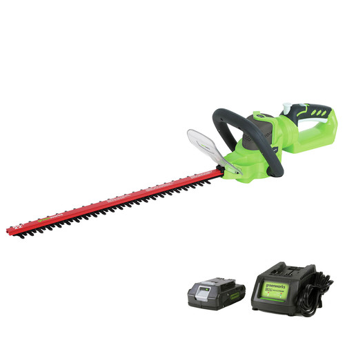 Greenworks 22132A 24V Cordless Lithium-Ion 22 in. Dual Action Electric Hedge Trimmer
