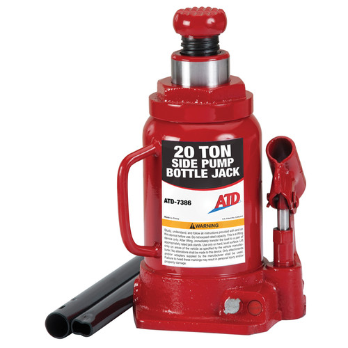 ATD 7386W 20 Ton Hydraulic Side Pump Bottle Jack image number 0