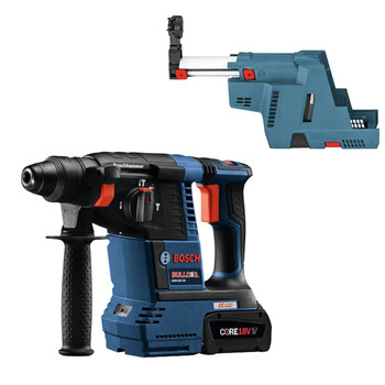 Bosch GBH18V-26K24-OSHA CORE 18V 6.3 Ah Li-Ion Brushless 1 in. SDS-Plus Bulldog Rotary Hammer Kit with Dust Collector image number 0
