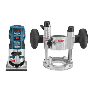 Bosch PR20EVSPK Colt Palm Grip 5.6 Amp 1 HP Variable-Speed Combination Plunge and Fixed-Base Router Kit image number 0