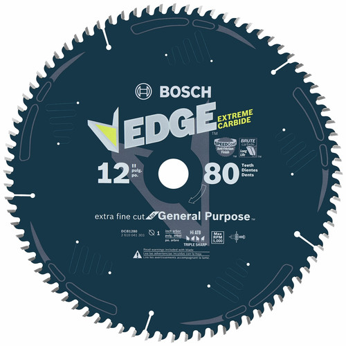 Bosch DCB1280 Daredevil 12 in. 80 Tooth Extra-Fine Circular Saw Blade