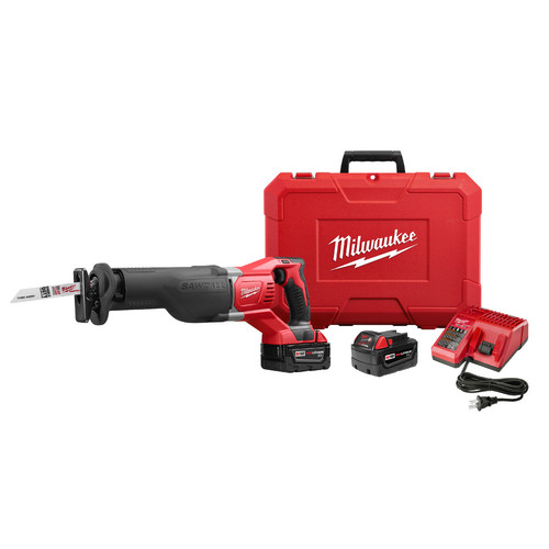 Factory Reconditioned Milwaukee 2621-82 M18 SAWZALL 18V Cordless Lithium-Ion Reciprocating Saw with 2 Batteries