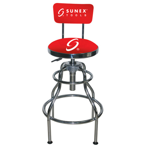 Sunex 8516 Sunex Hydraulic Shop Stool (Chrome)
