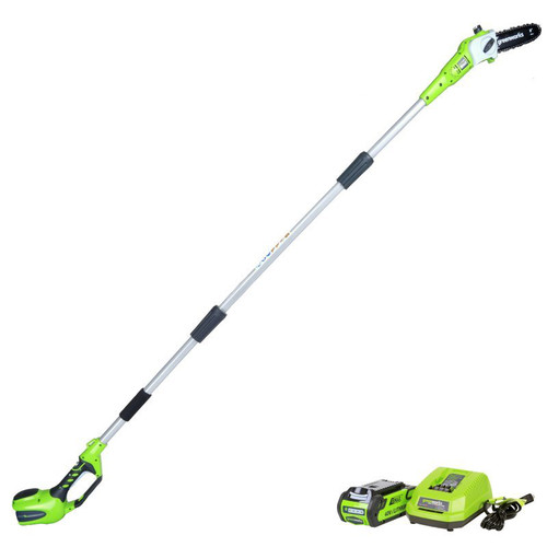 Greenworks 20672 40V G-MAX Cordless Lithium-Ion 8 in. Pole Saw Kit