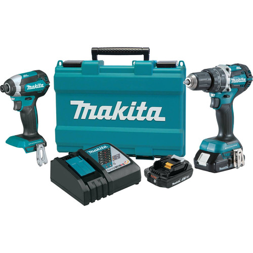 Makita XT269R 18V Compact BL LXT Lithium-Ion Cordless 2-Piece Combo Kit (2.0 Ah)
