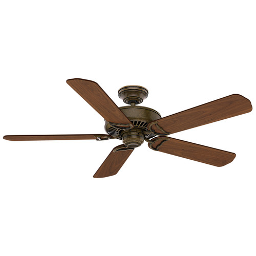Casablanca 55070 54 in. Panama Aged Bronze Ceiling Fan with Wall Control