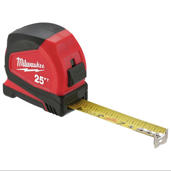 Milwaukee 48-22-7125C 25 ft. Magnetic and Compact Tape Measure (2 Pc) image number 7