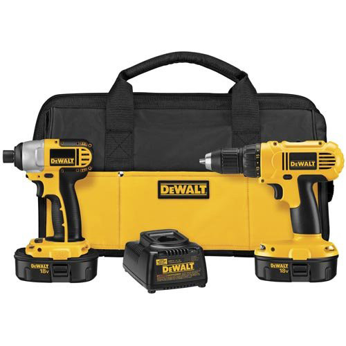 Factory Reconditioned Dewalt DCK235CR 18V Cordless 1/2 in. Compact Drill Driver and Impact Driver Combo Kit