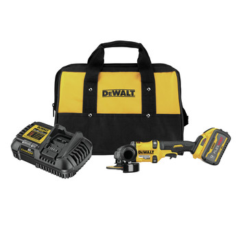 Dewalt DCG418X1 FLEXVOLT 60V MAX Brushless Lithium-Ion 4-1/2 in. - 6 in. Cordless Grinder Kit with Kickback Brake and (1) 9 Ah Battery