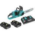 Makita XCU03PT1 18V X2 (36V) LXT Lithium-Ion Brushless Cordless 14-in Chain Saw Kit with 4 Batteries (5.0Ah) image number 0