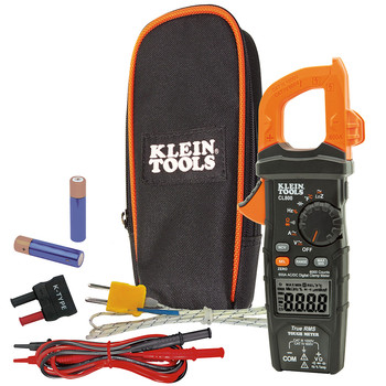 Klein Tools CL800 Digital AC TRMS Low Impedance Cordless Auto-Range Clamp Meter Kit