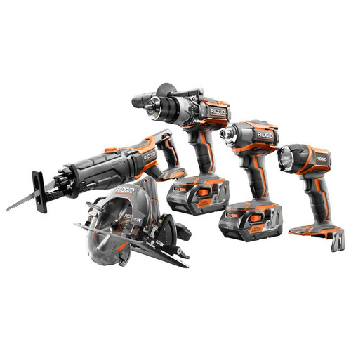 Factory Reconditioned Ridgid GEN5X 18V 4.0 Ah Lithium-Ion 5-Piece Combo Kit
