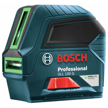 Bosch GLL100G Green Beam Self-Leveling Cross Line Laser image number 1