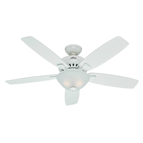 Hunter 53177 52 in. Banyan Snow White Ceiling Fan with Light
