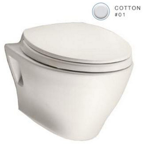 TOTO CT418FG#01 Aquia Elongated Wall Mount Toilet Bowl with SanaGloss (Cotton White)