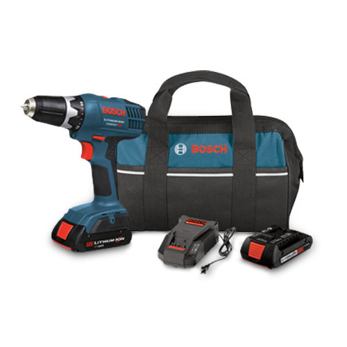 Bosch DDB180-02 18V 1.3 Ah Cordless Lithium-Ion 3/8 in. Drill Driver Kit with Contractor Bag