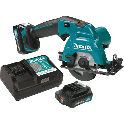 Makita SH02R1 12V MAX CXT 2.0 Ah Cordless Lithium-Ion 3-3/8 in. Circular Saw Kit