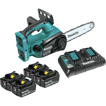 Makita XCU02PT1 18V X2 (36V) LXT Lithium-Ion Cordless 12 in. Chain Saw Kit with 4 Batteries (5.0Ah) image number 0