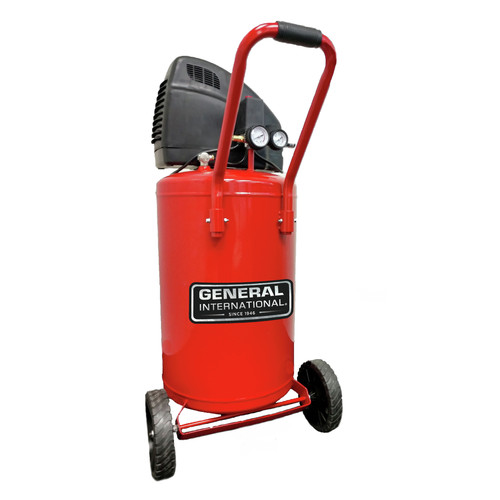 General International AC1220 1.5 HP 20 Gallon Oil-Free Portable Air Compressor image number 0