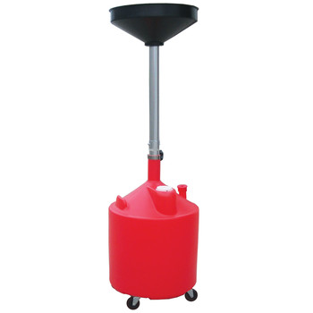 ATD 5188A 18 Gal. Plastic Waste Oil Drain with Casters