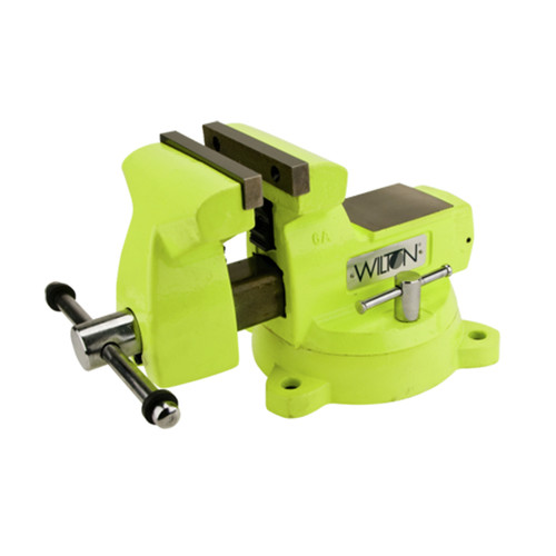 Wilton 63188 1560, High-Visibility Safety Vise, 6 in. Jaw Width, 5-3/4 in. Jaw Opening