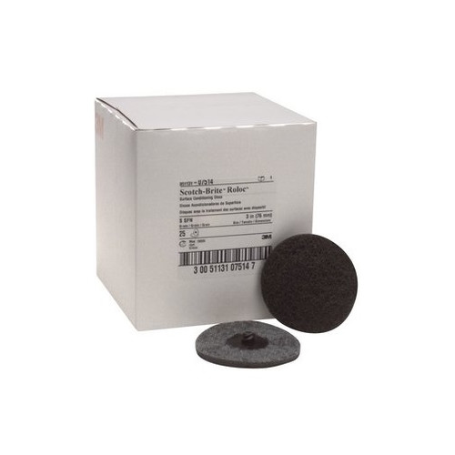 3M 7514 Scotch-Brite Roloc Surface Conditioning Disc Gray 3 in. Super Fine (25-Pack)
