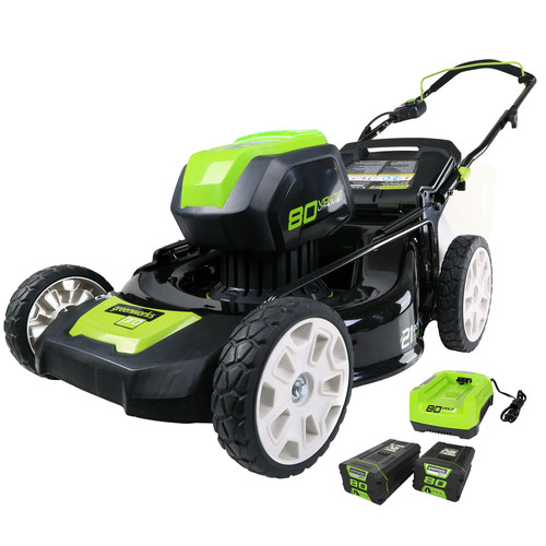 Greenworks GLM801601 80V Cordless Lithium-Ion 21 in. 3-in-1 Lawn Mower Kit