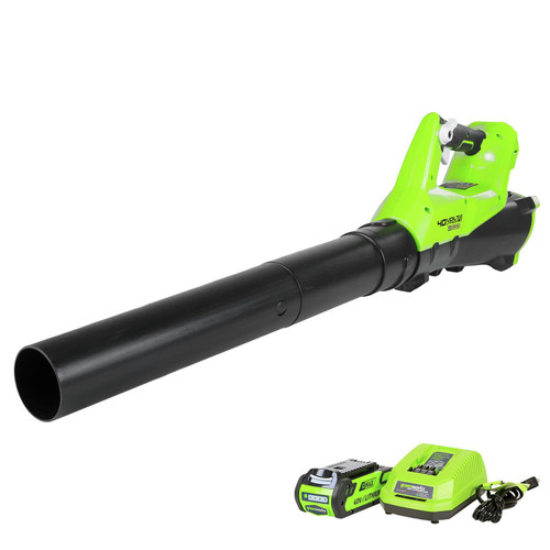 Greenworks 2400802 2400802 G-MAX 40V Axial Blower with 2 Ah Battery and Charger