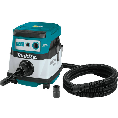 Makita XCV07ZX 18V X2 LXT Lithium-Ion (36V) Brushless Cordless 2.1 Gallon HEPA Filter Dry Dust Extractor/Vacuum (Bare Tool)