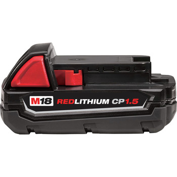 Milwaukee 48-11-1815 M18 REDLITHIUM CP 1.5 Ah Lithium-Ion Battery image number 1
