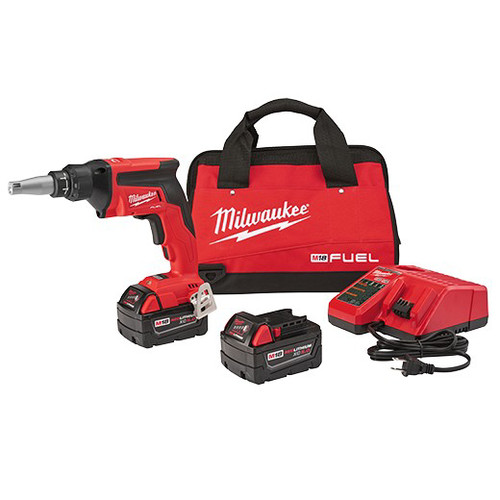 Factory Reconditioned Milwaukee 2866-82 M18 FUEL 2.0 Ah Cordless Lithium-Ion Drywall Screw Gun Kit