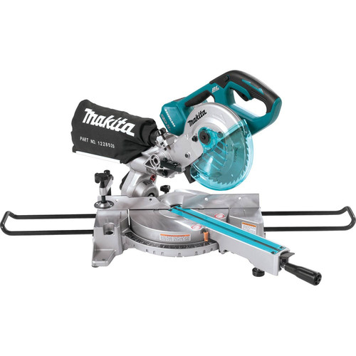 Makita XSL02Z 18V X2 LXT Cordless Lithium-Ion 7-1/2 in. Brushless Dual Slide Compound Miter Saw (Tool Only) image number 0