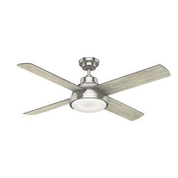 Casablanca 59433 54 in. Levitt Brushed Nickel Ceiling Fan with LED Light Kit and Wall Control