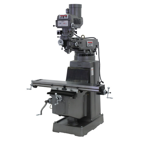 JET JTM-1050 Mill with ACU-RITE 200S DRO and X, Y & Z-Axis Powerfeeds & Power Draw Bar