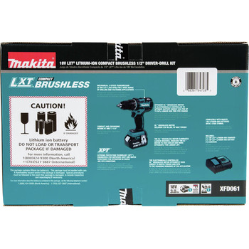Factory Reconditioned Makita XFD061-R 18V LXT Lithium-Ion Brushless Compact 1/2 in. Cordless Drill Driver Kit (3 Ah) image number 7