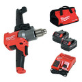 Milwaukee 2810-22 M18 Fuel Mud Mixer With 180 Degree Handle Kit