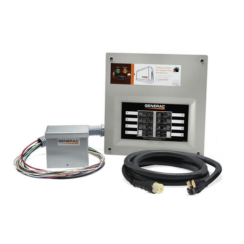 Generac 9855 HomeLink 50-Amp Indoor Pre-wired Upgradeable Manual Transfer Switch Kit for 10-16 Circuits image number 0