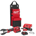Milwaukee 2678-22O M18 Force Logic 18V 2.0 Ah Cordless Lithium-Ion 6T Utility Crimper Kit with D3 Groves and Fixed O Die