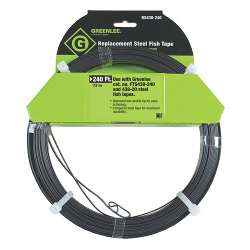 Greenlee 52044592 240 ft. Replacement Steel Fish Tape image number 0