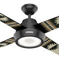 Hunter 59389 54 in. Pendleton Matte Black Ceiling Fan with LED Light Kit and Remote Control image number 3