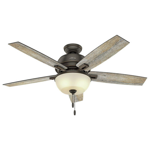 Hunter 53333 52 in. Donegan Onyx Bengal Ceiling Fan with Light